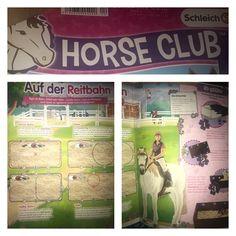 Schleich Reithalle :) In der neuen horse Club ist eine tolle Idee wie man mit den schleich Pferden im Zirkel etc reiten kann :))
