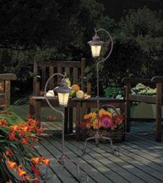 Pair Outdoor Solar Spotlights Garden Lighting Gardman