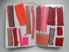 Textile freak This is the photostream of a textile designer. You know I'm keen on textile so by seeing these photos of Hermine Virginie van Dijck I got a bubbling feeling. Textiles Sketchbook, Arte Sketchbook, Sketchbook Pages, Fashion Sketchbook, Sketchbook Ideas, Textile Design, Textile Art, Fabric Design, Collages