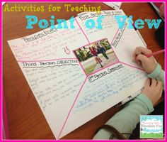 Teaching With a Mountain View: Teaching Point of View Good for speaking and writing activities Reading Lessons, Reading Strategies, Reading Activities, Reading Skills, Reading Comprehension, Class Activities, Reading Resources, Classroom Activities, Math Lessons