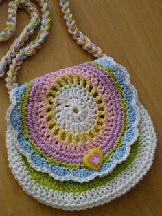 Crochet Girls, Cute Crochet, Crochet Crafts, Crochet Projects, Knit Crochet, Crochet Handbags, Crochet Purses, Crochet Doilies, Crochet Mask