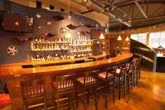 The Garage Restaurant, Jackson Hole Jackson Hole Restaurants, Underground Garage, Places To Eat, Liquor Cabinet, Man Caves, Garages, Furniture, Home Decor, Men Cave