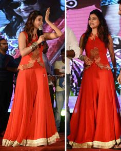 Samantha Prabu at Lovers Audio Launch in Ridhi Mehra Jacket and Sharara suit