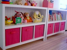 Organization for Kenna! Also the type of media console I'd like in the living room...