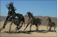 Burning Man 2005 - Rubber Horses - Photo by Scott London