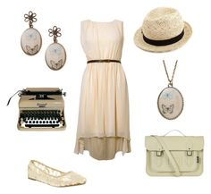 """Vintage"" by i-am-a-nobody ❤ liked on Polyvore featuring Rare London, Charlotte Russe, Retrò, Office, Zatchels and vintage"