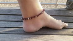 beach anklet seed pin for foot women beaded anklets bead bracelet her