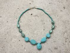 light blue real stones necklaces by FlorindaJewellery on Etsy