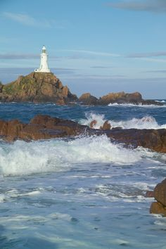 Corbiere #Lighthouse - #Jersey, The Channel Islands   http://www.roanokemyhomesweethome.com