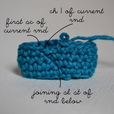 WORKING IN THE SLIP STITCH AT THE END OF THE ROUND