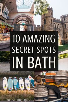 10 Quirky, Unusual, Unique & Secret Spots in Bath Cool Places To Visit, Places To Travel, Bath Uk, Visit Uk, Day Trips From London, Uk Holidays, Road Trip, Hidden Bath, Ireland Travel