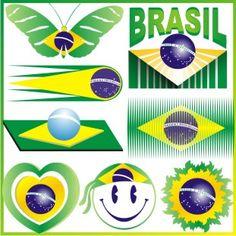 Bandeira estilizada - Brazil