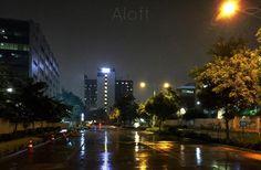 Aloft #aloft #Bengaluru #hotel #night #rainy #construction #urban #Cessna #shotfromiphone6 #iphone6 #apple #lights #manmade
