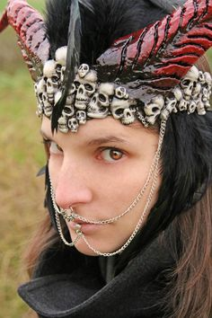 MADE TO ORDER headpiece with black by ChimericalDragonfly on Etsy