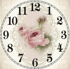 printable clock face roses & buds                                                                                                                                                      More