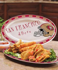 Take a look at this San Francisco 49ers Game-Day Platter by The Memory Company on #zulily today!