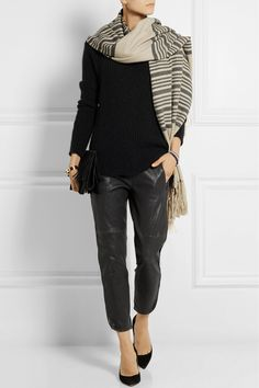 Isabel Marant|Edith striped cashmere and wool-blend scarf|NET-A-PORTER.COM