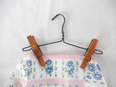 vintage clothes hanger 1950s display hanger wooden by brixiana