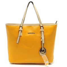 Michael Kors totes,very cheap really,about save 80% off,i love it ~! | See more about travel tote, yellow black and michael kors jet.