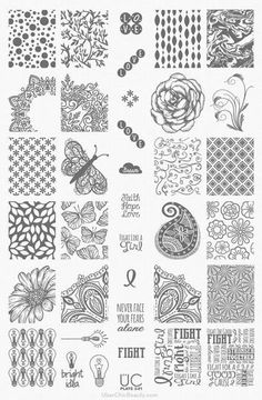 UberChic Beauty Nail Stamp Plates: Collection 3 - Plate 3-01 - Need easy nail art ideas? Try nail stamping! It's easy AND affordable - plus you can reuse it time and time again! Where Jamberry is a one time use - these you can use over and over with any color you'd like! Nail stamping is so much fun! I love it!!!