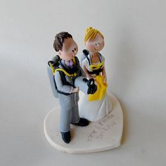 Wedding Cake Topper Scuba Divers By Maraluiza Beach And Sea Cakes Pinterest Toppers Scubas Fimo