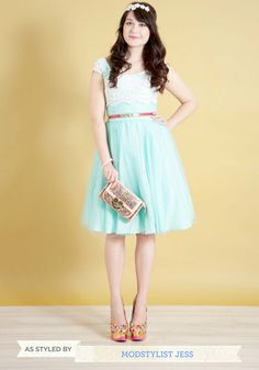 Tea length dresses are an easy way to make a wedding outfit a little more casual  retro.