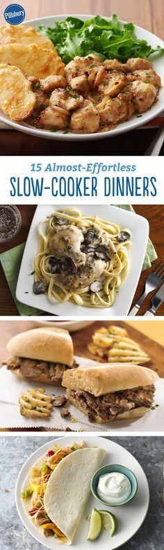 The busiest time of year is almost here, and we are all about simple dinner solutions that get a meal on the table - without the stress. These 15 slow-cooker dinners are all about prepping, setting and forgetting. Just let your slow cooker do the work for you!