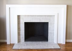 Ocean Mini Glass Tile Fireplace Surround Could be nice as a