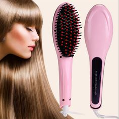 Electric Hair Brush Straightener, Hair Straightener Brush Electric Heating Ceramic Detangling Comb Digital Anion Hair Care, Anti-Scald Effective Silky Hair Brush * You can get more details by clicking on the image. Fast Hairstyles, Straight Hairstyles, Best Hair Straightener, Hair Straightening, Hair Quality, Silky Hair, Hair Care Tips, Hair Tools, Hair Comb