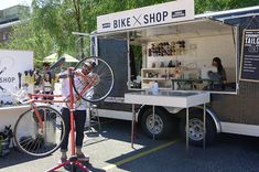 So perfect to have a  pop up shop on wheels-- for a bike shop. Locate where bicycle riders are! popuprepublic.com