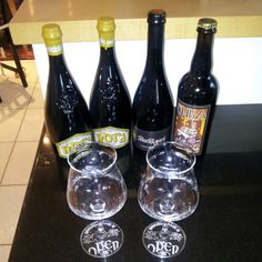 Souvenirs from Open Baladin in Rome. Italian craft beers and stemware.