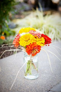 Country Wedding Flower Centerpieces