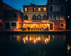 Dinner by the Canal in Venice - Trey Ratcliff