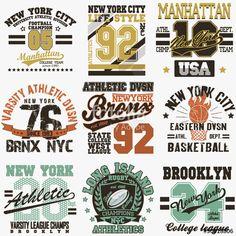 Vecteur : New York t-shirt set