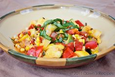 Summer Vegetable Stew - looks like a great way to use some summer harvest bounty!