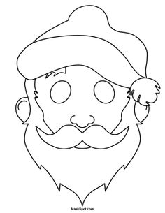 Printable Santa Claus Mask To Color
