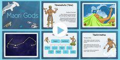 The Maori Gods PowerPoint - nz, new zealand, Maori Gods, legends myths School Resources, Teaching Resources, Legends For Kids, Maori Legends, Legends And Myths, Art Curriculum, Interactive Activities, God Pictures, Lesson Plans