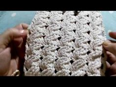 Bolsa de crochê com fio de malha - YouTube