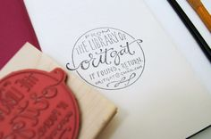 pretty hand-lettering stamp