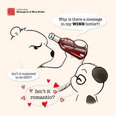 Panda sent an unusually romantic message in a bottle.