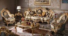 Model Kursi Tamu Jakarta Ukir - Furniture Jepara - Furniture Jepara Luxury Italian Furniture, Luxury Home Furniture, Classic Furniture, Home Decor Furniture, Sofa Furniture, Furniture Design, Luxury Sofa, Luxury Living, Royal Chair