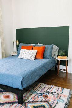 Home Decor Bedroom, Painted Headboard, Decor, House Interior, Bedroom Decor, Home Remodeling, Home, Remodel Bedroom, Home Decor