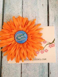 FL Gator Flower Hair Clip  UF by isabelasribbons on Etsy, $8.00