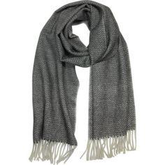 Mila Schon Designer Long Scarves Pure Cashmere Long Scarf w/Fringe