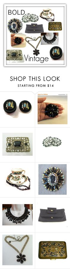 """""""Bold Vintage"""" by ravishedheart ❤ liked on Polyvore featuring vintage"""
