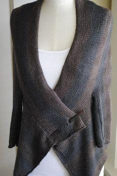 Triple Fold Striped Wrap Cardigan Free Knitting pattern and more cardigan knitting patterns