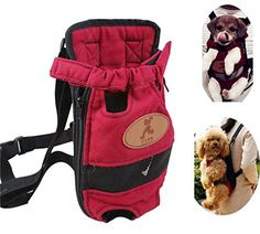Front Pack Pet Small Dogs Puppy Carry Canvas Bag Backpack, Double Shoulders Straps, fit weight up to 5.5lbs (Small) - http://www.thepuppy.org/front-pack-pet-small-dogs-puppy-carry-canvas-bag-backpack-double-shoulders-straps-fit-weight-up-to-5-5lbs-small/