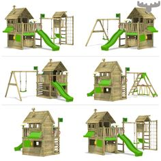 Ready to Build a Playhouse on Stilts? Backyard Playset, Garden Playhouse, Build A Playhouse, Playhouse Outdoor, Outdoor Toys, Kids Outdoor Playground, Backyard For Kids, Outdoor Play Areas, Kids Play Area