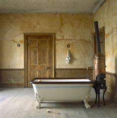 rusztikus vintage fürdőszoba, lakásfelszerelés ötlet