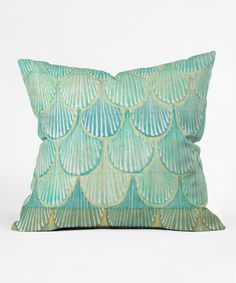 Look what I found on #zulily! Turquoise Scallops Throw Pillow #zulilyfinds